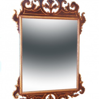 18th Century Simulated Walnut & Parcel Gilt Antique Mirror