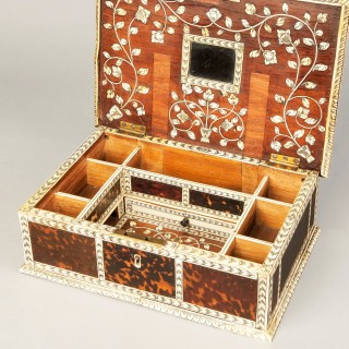 An Early 18th Century Indo-Portuguese Toilet Box