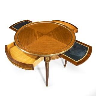 A Napoleon III mahogany side table