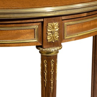 A Napoleon III mahogany side table