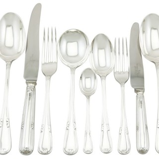 Sterling Silver Canteen of Cutlery for Six Persons by Walker & Hall - Vintage (1956)