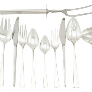 American Sterling Silver Canteen of Cutlery for Six Persons by Reed & Barton - Design Style - Vintage Circa 1960