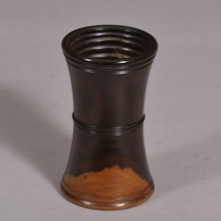 Antique Treen 19th Century Kingwood Dice Shaker