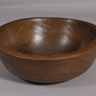 Antique Treen 19th Century Elm Bowl