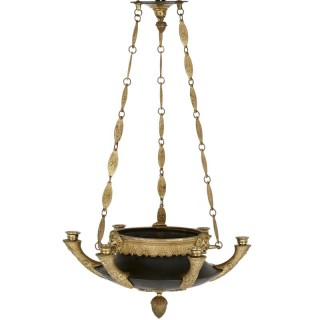 Napoleon III period gilt and patinated bronze chandelier