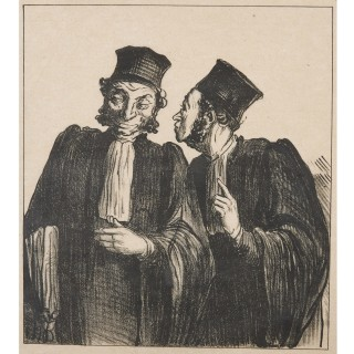 Lithograph by Honoré Daumier from 'Croquis Parisiens'