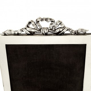 Antique Sterling Silver 'Bow/Ribbon' Photo Frame 1925