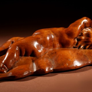 A Very Interesting Carved Fruitwood Sleeping Child Attributed To Laurent Delvaux  Gand 1696- Nivelles 1778.