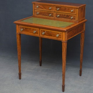 Elegant Edwardian Rosewood Writing Table
