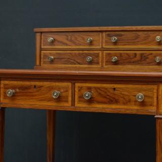 Elegant Edwardian Rosewood Writing Table