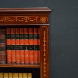 Early 20th Century Mahogany Open Bookcase