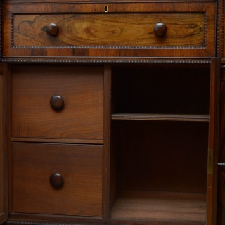Superb Quality Regency Chiffonier with Secretaire Section