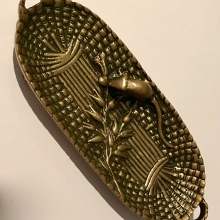 French Bronze Mouse Pin Tray