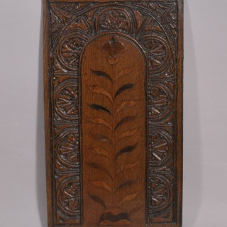 Antique 18th Century Oak Panel