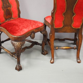 Pair of George I Style Walnut Dining Chairs