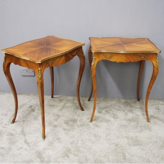 Pair of French Kingwood Occasional Tables