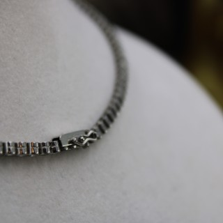 Platinum & Diamond Rivière Necklace, Circa 1945