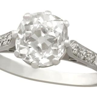 1.62ct Diamond and Platinum Solitaire Ring - Antique Circa 1930