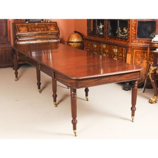 Antique Regency Flame Mahogany Dining Table Manner of Gillows c.1820 19th C