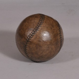 Antique 19th Century Leather Baseball