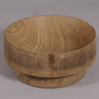 Antique Treen Early 20th Century Teak Sussex Log Bowl