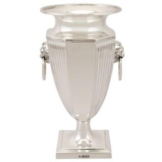 Sterling Silver Presentation Vase - Antique George V (1911)