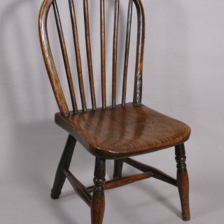 Antique 19th Century Child's Single Stick back Chair