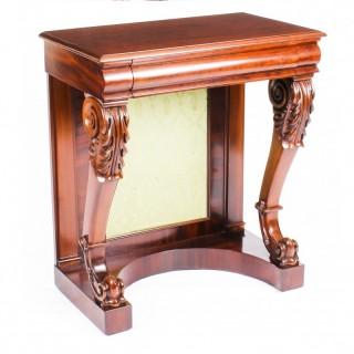 Antique Victorian Mahogany Console Hall Table c1860 19th Century