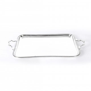 Antique Large Art Deco Silver Plated Butlers Tray C1930