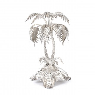 Antique Victorian Silver Plated Palm Tree Centrepiece Mappin & Webb 19th C