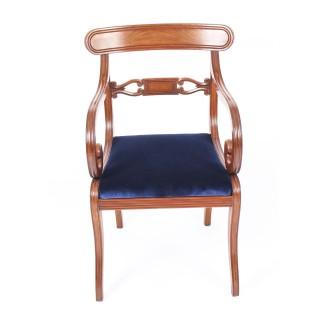 Antique Set 14 Regency Mahogany Dining Chairs 19th Century C1820