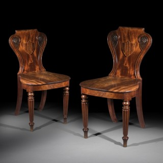 Pair of Regency Hall Chairs attributed to Gillows