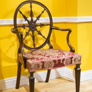 Fine George III Adam Period Neoclassical Armchair
