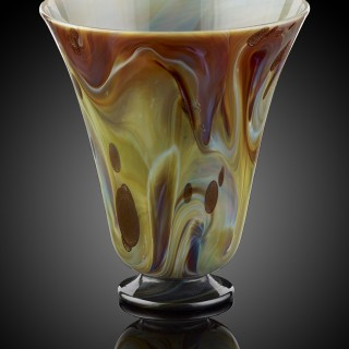 A Chalcedony Glass Beaker, with Aventurine Inclusions; Venice, 17th century/ early 18th century.