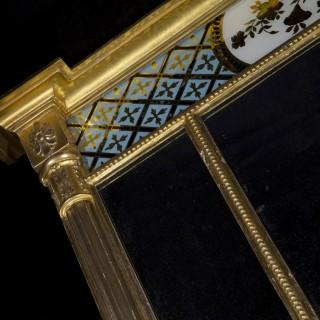 Fine Regency Verre Églomisé Overmantel Mirror