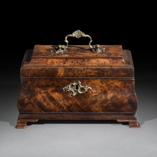 Pair of George III Chippendale Bombé Tea Caddies