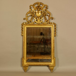 French 18th Century Louis XVI Neoclassical Giltwood Wall Mirror