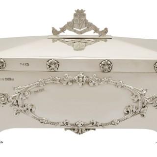 Sterling Silver Jewellery Casket - Antique George V