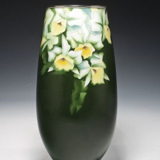 A Japanese cloisonne vase by Ando, mid Showa period