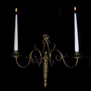 Antique Neoclassical Ormolu Wall Sconce