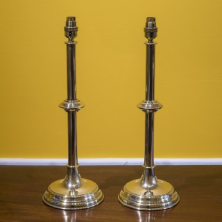 Pair of Antique Brass Table Lamps