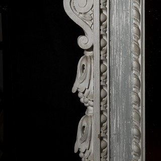 Antique Georgian Painted Overmantel Mirror
