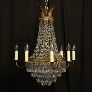 French Gilded 12 Light Tent Antique Chandelier