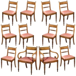 Fine Set of Twelve Regency Dining Chairs