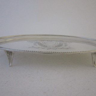 Antique Edwardian Sterling silver teapot stand