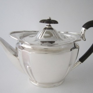 Antique Edwardian Sterling silver teapot