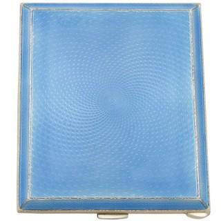 Sterling Silver and Enamel Cigarette Case - Vintage George VI (1949)