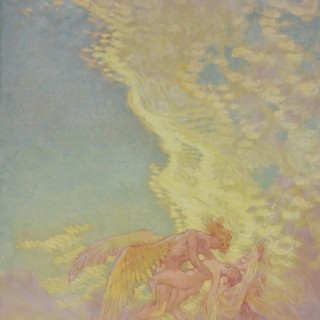 William Shackleton - Sunset Wings - oil on paper