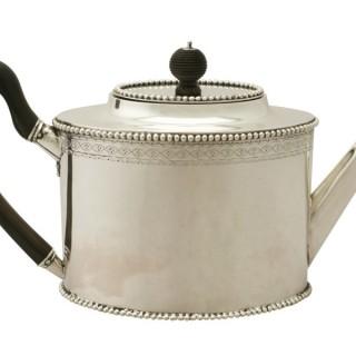 Dutch Silver Teapot - Antique 1801