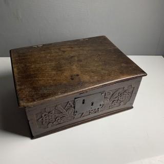 Very Small 18th Century Oak Bible Box